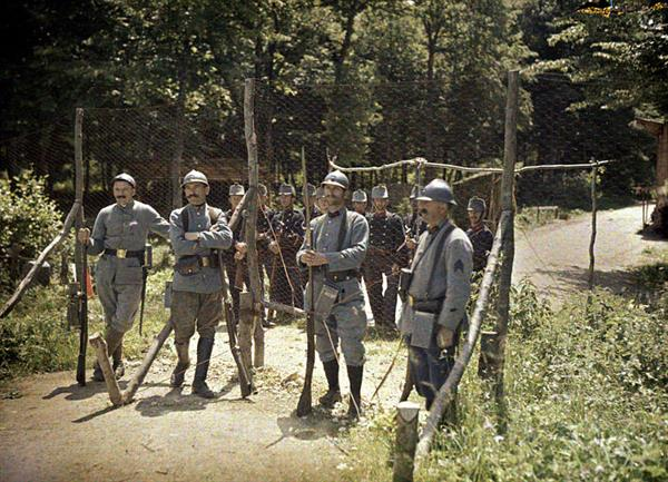 French soldiers on the Franco-Swiss border in 1916