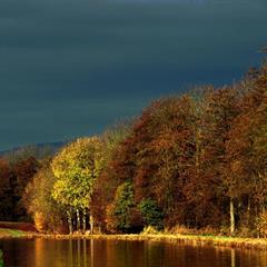 - © Euro Velo 6 le long du Canal du Rhône au Rhin dans le Sundgau,  © Jean Goepfert.