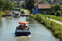 Euro Velo 6 along the  Rhone-Rhine Canal in Sundgau,  © Jean Goepfert.