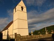 Clocher à bâtière de l'église de Koestlach