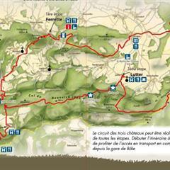 - © Carte du circuit des trois châteaux
