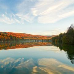 Le plan d'eau de Courtavon en automne - © Vincent MULLER