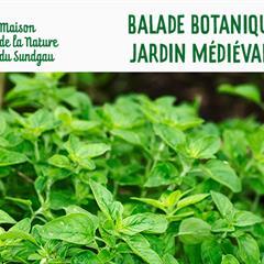Balade botanique dans le jardin médiéval de Ferrette - © Office de Tourisme du Sundgau