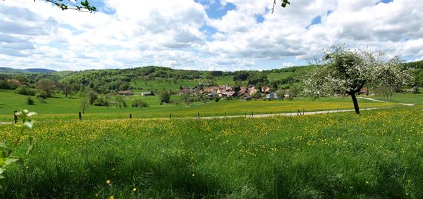 Panorama of the village of Bendorf