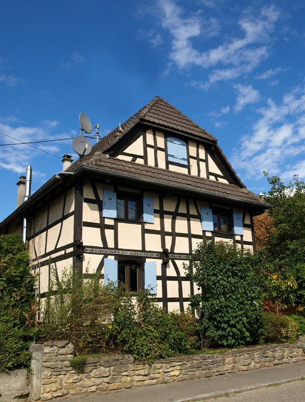 Maison à colombages sundgauvienne