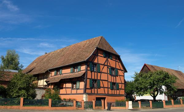 Oldest half-timbered house dated 1498 from Sundgau