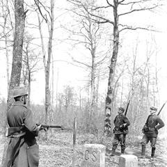 Borne des Trois Puissances durant la Grande guerre - © Swiss Federal Archives