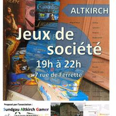 Board games, every Tuesday at ALTKIRCH - © Sundgau Altkirch Gamer