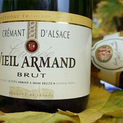Bottle of Crémant. Credit: Cave du Vieil Armand