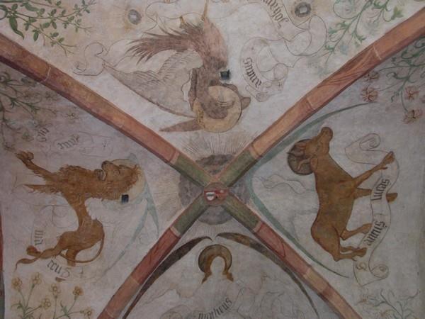 Les fresques du plafond du choeur