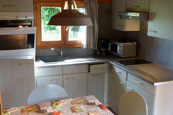 cuisine qui ouvre sur une belle terrasse couverte , vue dégagée sur le parc - © wendling