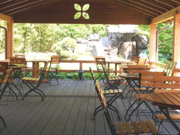 salon de thé - terrasse - © jardins de gaïa