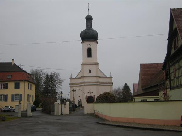 Eglise de l'Exaltation de la Sainte-Croix de Grussenheim - © Mairie Grussenheim