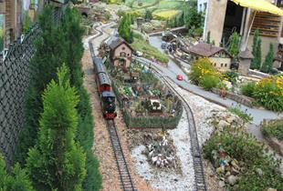 Christmas at the garden model train