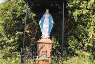 Statue de la Vierge bleue