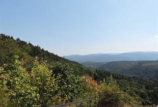 Panoramic view near the Hohenstein ruins