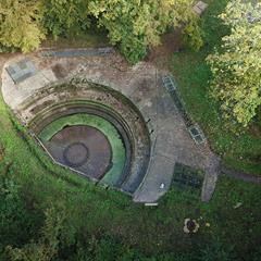 Vue aérienne de l'emplacement du Grand Canon - Zillisheim - © © Association de Préservation et de Valorisation du Site du Grand Canon de Zillisheim