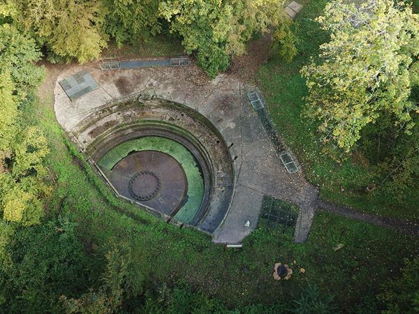Luftaufnahme des Standortes des Grand Canon - Zillisheim