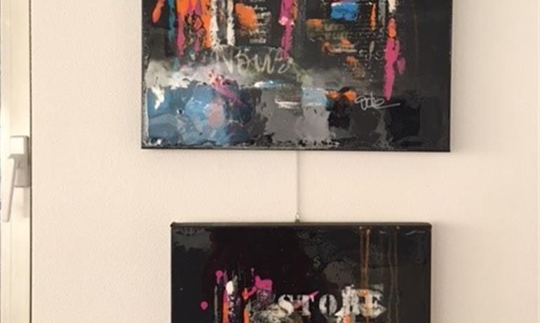 Vitrine des arts : Couleurs pastel de Michel Renaudin