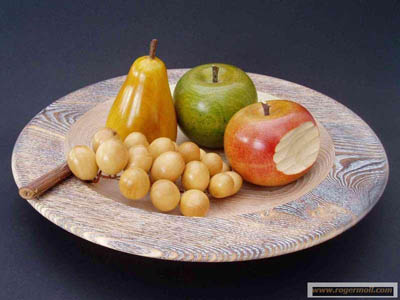 wooden fruit cup