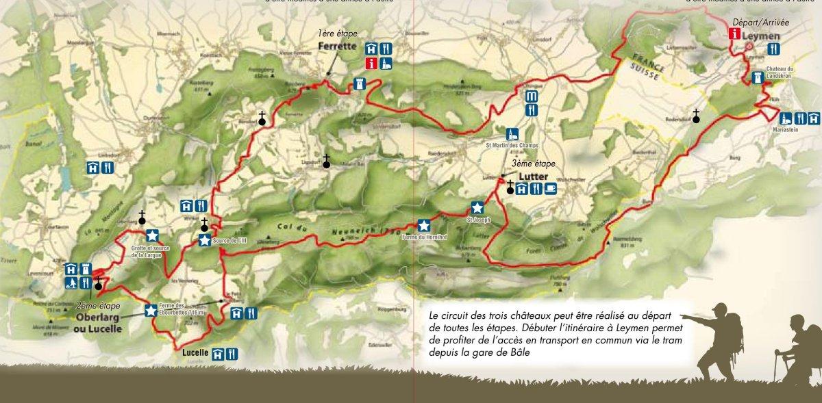 Circuit des trois ch teaux du jura alsacien ferrette - Office de tourisme du jura ...