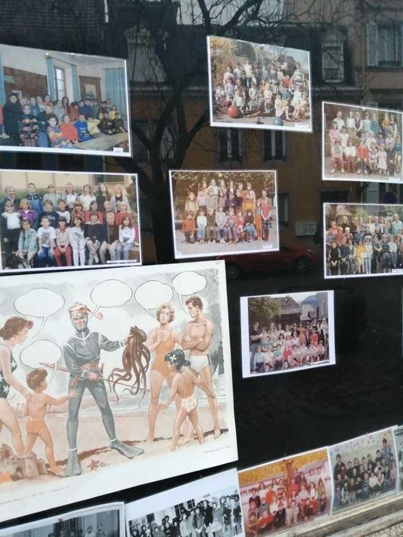 Exposition sur l'école au centre-ville de Sainte-Marie-aux-Mines - Sainte Marie aux Mines
