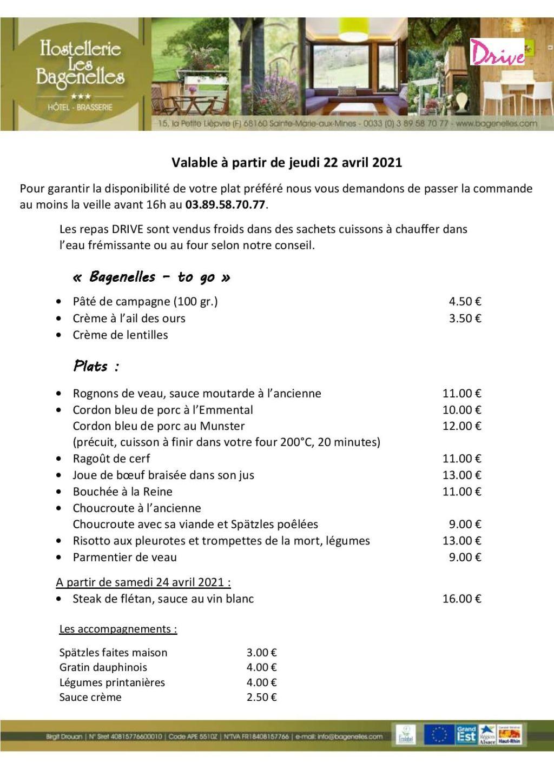 Le Drive des restaurateurs du Val d'Argent - Le Val d'Argent