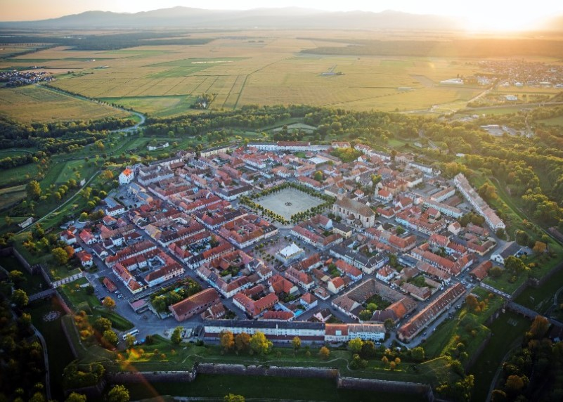Helicopter flight from Neuf-Brisach