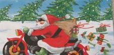 Les Pères Noël à moto