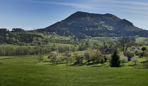 Vue sur le Climont. Crédit photo : Office de tourisme de la vallée de la Bruche / Stéphane Spach