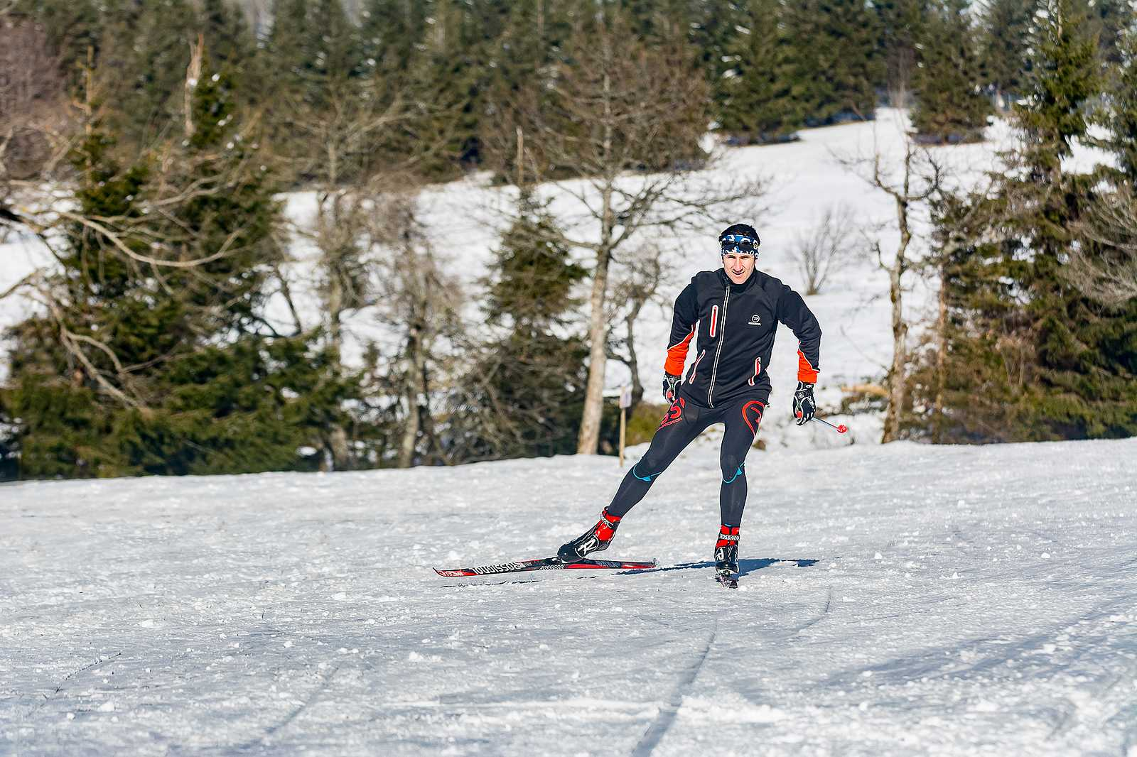 Cross-country skiing at the Champ du Feu