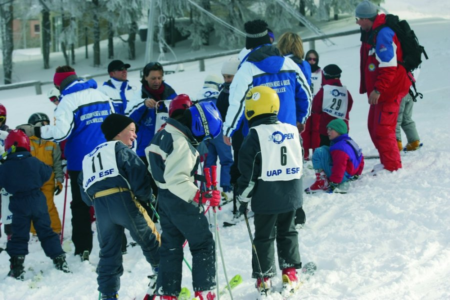 Alpine ski school at the Champ du Feu