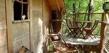 Gästezimmer : Baumhütten Les cabanes du Goutty