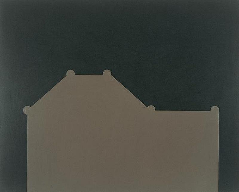 (c) Sylvie Fanchon, Sans titre, 1996, acrylique sur toile (130 x 162 x 5 cm) Collection Frac Alsace