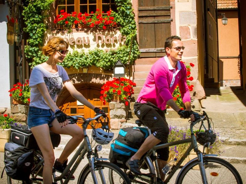 Dambach-la-Ville Véloroute du Vignoble d'Alsace Eurovélo 5 © ADT Bas-Rhin INFRA