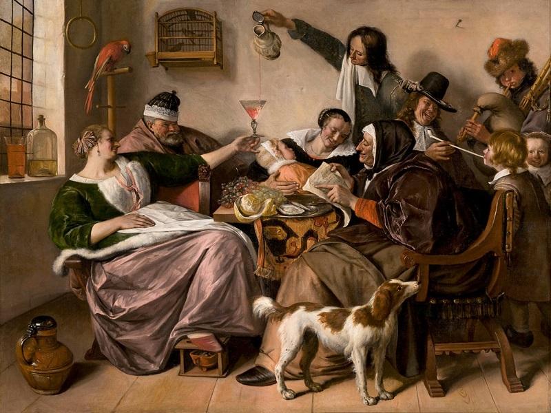 (c) Jan Steen, La manière dont vous l'entendez est la manière dont vous le chantez 1668-1670