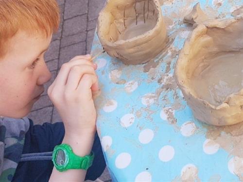 Atelier enfant : poterie