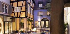 Hôtel Le Colombier, Colmar, Alsace / www.hotel-le-colombier.fr (Cour intérieur)
