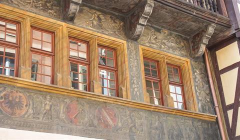 Détails des peintures de la maison Pfister (OT Colmar)