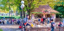 Terrasse dans le parc du Champ de Mars (OT Colmar)