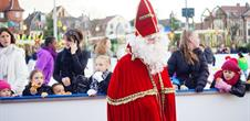 Christmas ice-skating rink place Rapp : visit from the Saint-Nicolas