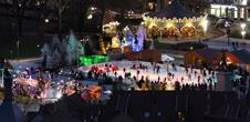 Christmas ice-skating rink - place Rapp : Snow storm