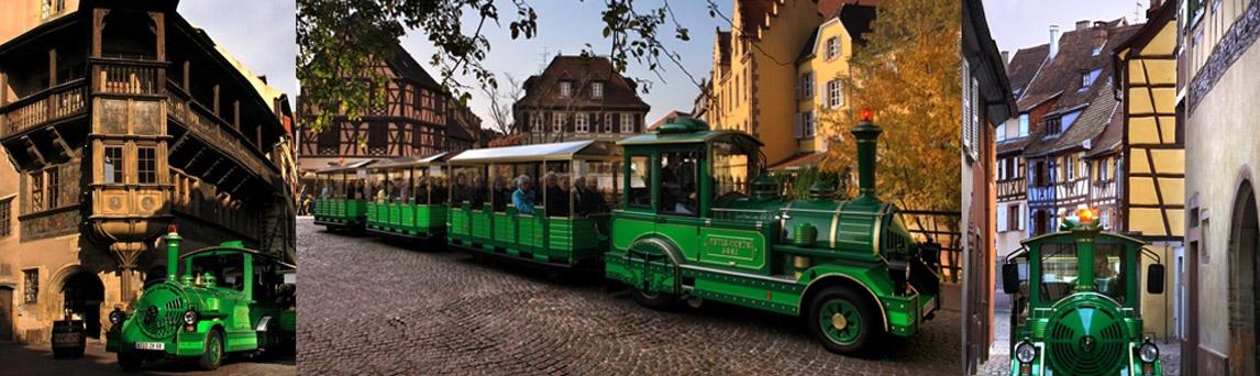 Petit train touristique de Colmar