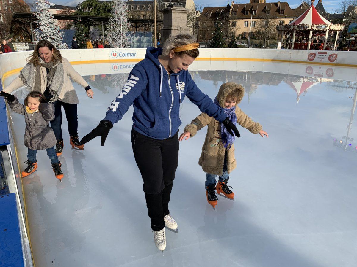 Patinoire de Noël  - place Rapp : découverte du patinage artistique