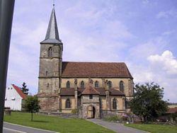 L'église gothique de Domfessel