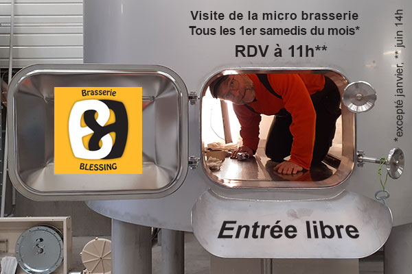 Guided tour of the artisanal brewery Blessing