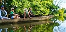 Balade contée en barque à fond plat