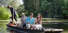 Boat trips on the River Sarre about the bat