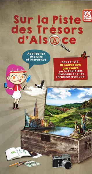 """Jeu smartphone """"sur la piste des trésors d'Alsace"""""""