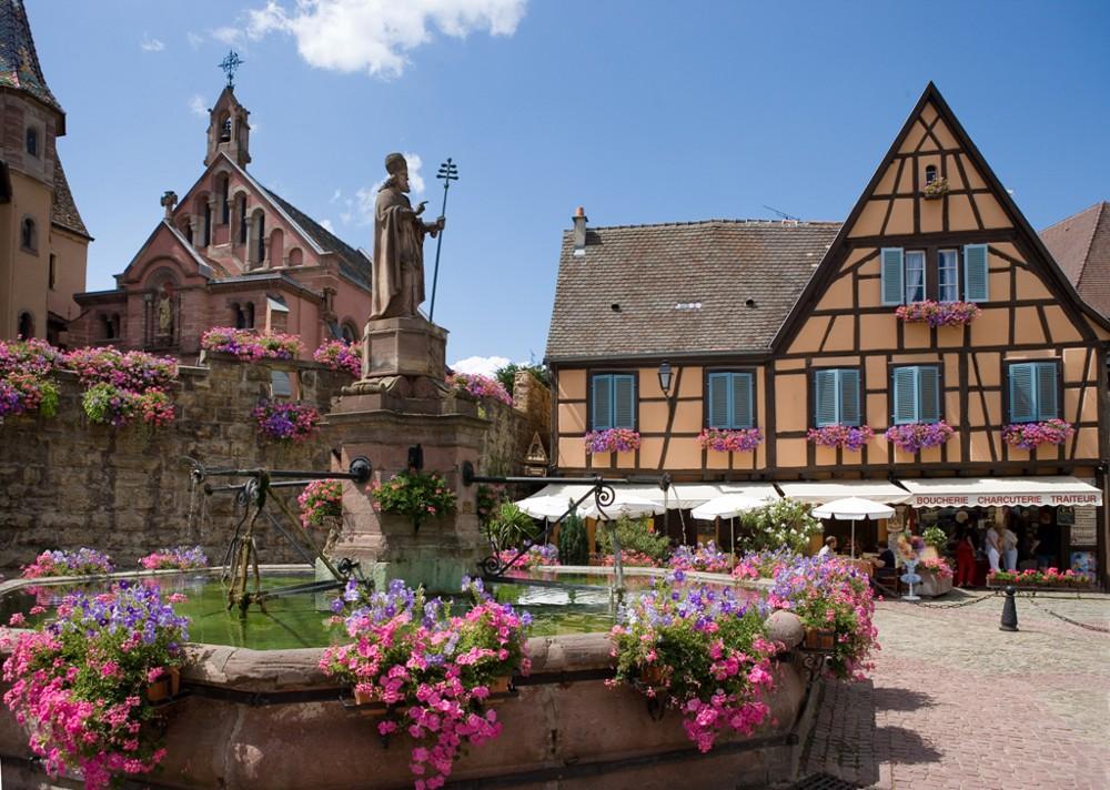 Typical village: Eguisheim